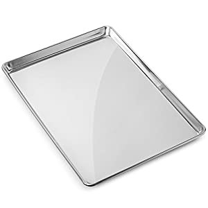 Gridmann 18 x 26 Commercial Grade Aluminium Cookie Sheet Baking Tray Pan Full Sheet - 12 Pans