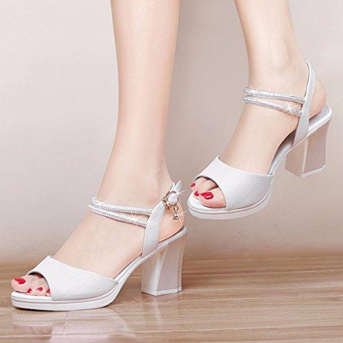 Mujer de JRFBA Blanco Zapatos Verano Zapatos en wqROR7x