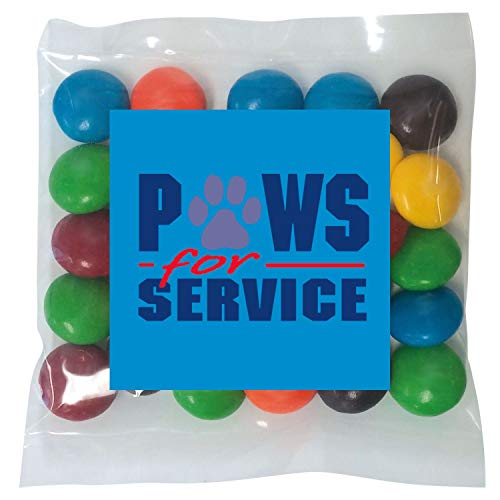 Candy Gift Pack-M&Ms with CUSTOMIZED in Personalized Mini Label Pack-BULK Quantities of 250, 500, 1000, 2500 per package