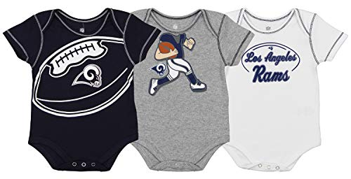 Sports Mem, Cards & Fan Shop Outerstuff Nfl Infant Girls Los Angeles Chargers Assorted 3 Pack Creeper Set