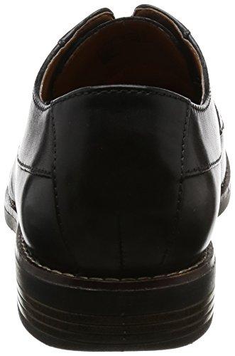 Clarks Herren Becken Plain Derbys Schwarz (Black Leather)