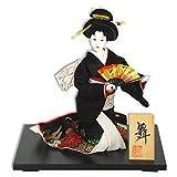 "Oyama Doll Japanese 13"" SUWARI Sitting, Multi-Color Brocade Kimono/Made Japan"