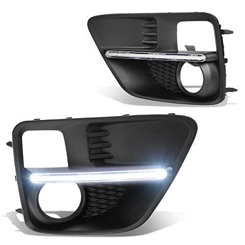 (DNA Motoring FL-ZTL-225-CH Fog Light Bezel Cover w/LED DRL [For 15-17 Subaru WRX/STI])