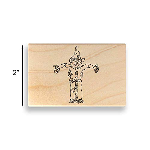 Scarecrow Rubber Stamp - Large - 2 inches (50mm) Tall. - Select from Several Sizes - Some can be Customized with Text