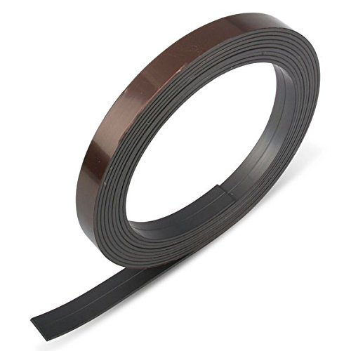 1 X nastro magnetico da un lato autoadesivo 12,7 x 1,5 mm (1 m/1pcs) M- nastro magnetico autoadesivo |magnetisches nastro adesivo | Flessibile, individualmente, infrangibile 7x 1 Magno-shop24
