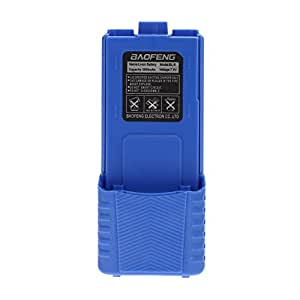 La Cabina 1800 mAh, ión de litio, 7,4 V, serie de UV 5RE-5R-Interfono para Radio Baofeng, color azul