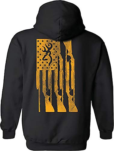 Browning Mens Gun Flag Hoodie (Black/Medium)
