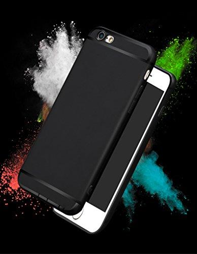 SOROMIO(ソロミオ)iphone6/6s ケース シリコン シンプル 4.7 ブラック 薄型設計 0.6mm 超軽量 擦れ傷防止 落下割れ防止 耐衝撃 防塵 耐汚れ 指紋防止 一体型 360度 全面保護 男女問わず ソフト カバー