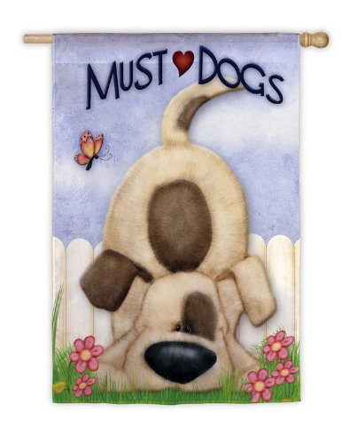 Must Love Dogs Garden Flag Size: 18u0026quot; ...