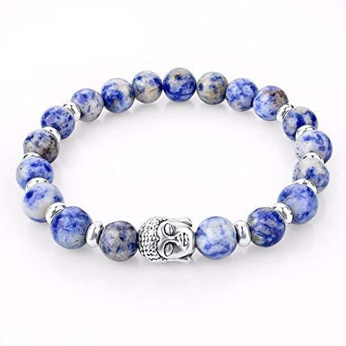 Zozu Mens Turkey Turkish Jewelry Natural Stone Bracelet femme Silver Lava Buddha Bead Chakra Bracelets & Bangle For Women Men (6)