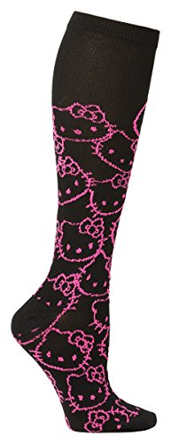 Footwear By Cherokee Women's Print Support Sock Hello Kitty Sock