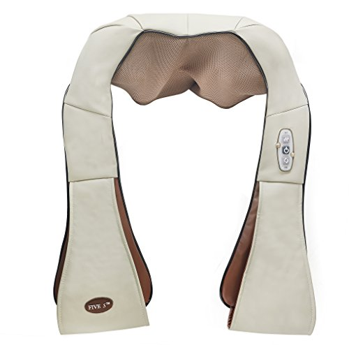 FIVE S Shiatsu Neck and Back Massager with Heat, Beige