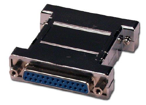 QVS CC353-FF DB25 Female to Female RS232 Serial Null Modem Shielded Adaptor ()