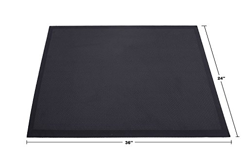The Original Ergohead Anti-Fatigue Comfort Standing Mat, Ergonomically Engineered, Perfect For Standing Desk, Kitchen, Gardening and Garages, 24'' x 36'', Black by ergohead