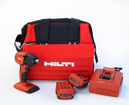 Hilti 03482620 SIW 18-A 1/2-Inch 18-volt CPC Cordless Compact Impact Wrench with Tool Bag and 1/2-Inch Square Chuck -
