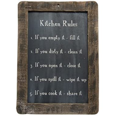 Generic Framed Kitchen Rules Blackboard - Primitive Country Rustic Reminders Wall Decor