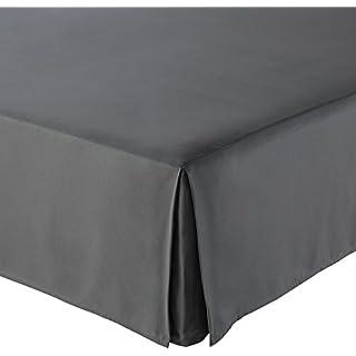 AmazonBasics Pleated Bed Skirt - King, Dark Grey