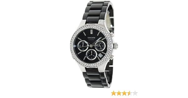 Amazon.com: DKNY Ceramic Glitz Chronograph Black Dial Womens watch #NY4983: Dkny: Watches