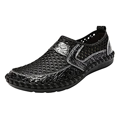 LOUECHY Men's Notus Mesh Walking Loafers Breathable Casual Shoes Lightweight Driving Shoes | Loafers & Slip-Ons