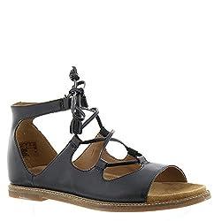 Clarks Women's Corsio Dallas Black Leather Sandal