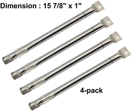 Gas Grill Stainless Steel Burner 4 Pack for Charmglow