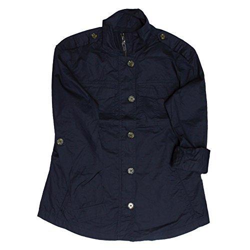 Buffalo David Bitton Women'sRoll Tab Sleeve Anorak Shirt Jacket (Medium, (Sleeve Anorak)