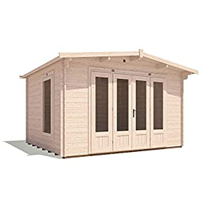12x10 Log Cabin Garden Office Kit