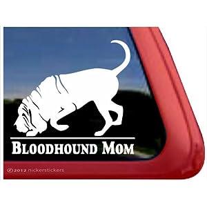 Bloodhound Mom ~ Bloodhound Vinyl Window Auto Decal Sticker 17