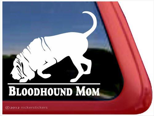 Bloodhound Mom ~ Bloodhound Vinyl Window Auto Decal Sticker ()