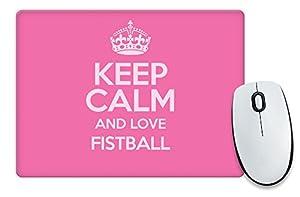 Pink Keep Calm und Love Faustball Mauspad Farbe 1193
