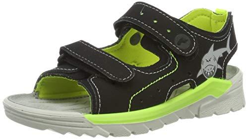 Ricosta Boys' Surf Ankle Strap Sandals, Black (Schwarz 095) 7.5 UK ()