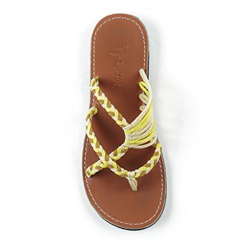 Plaka Flip Flops Slide Sandals for Women Tawny Size 8 Oceanside ()