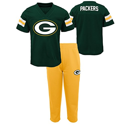 (Outerstuff NFL NFL Green Bay Packers Infant Training Camp Short Sleeve Top & Pant Set Hunter Green, 18)