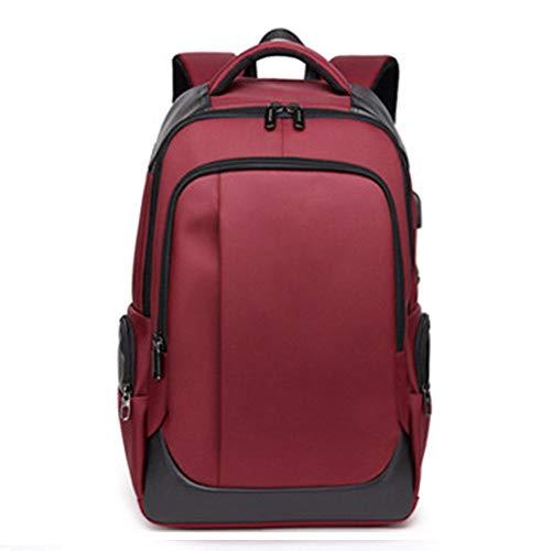 """VHVCX Grande capacité de 15,6"""" Sac à dos pour ordinateur portable Hommes Femmes Usb Charging Trip Bagpack étanche Rucksack Homme Femme Sac à dos Red"""