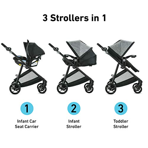 41H YLHs1sL - Graco Modes Element Travel System, Includes Baby Stroller With Reversible Seat, Extra Storage, Child Tray And SnugRide 35 Lite LX Infant Car Seat, Ainsley