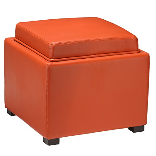 orange storage ottoman - 7
