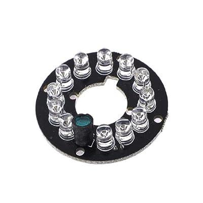 CCTV CCD Camera 12 LED Lamp IR Infrared Board Plate