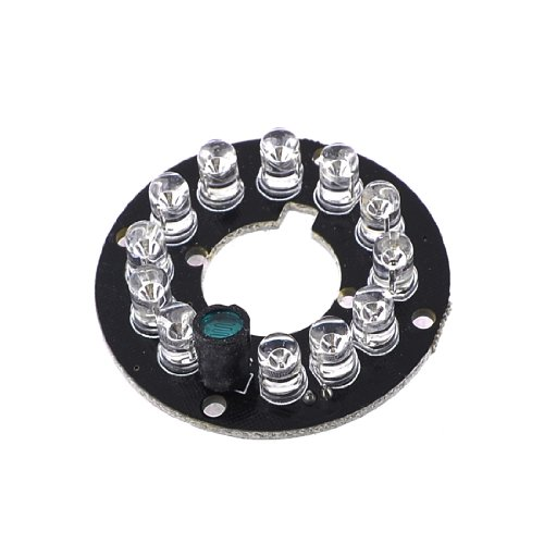 uxcell CCTV CCD Camera 12 LED Lamp IR Infrared Board Plate