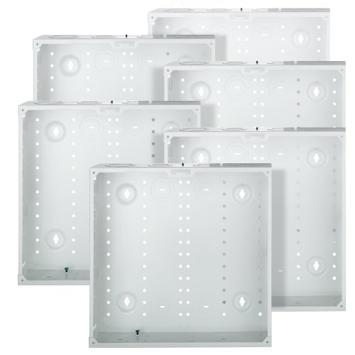 (Leviton 47605-14G SMC 14-Inch Series, Structured Media Enclosure only, 6-Pack, White)