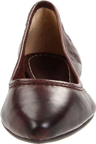 Frye Regina Ballet - Zapatos de Cordones de canvas para mujer Dark Brown Soft Vintage Leather-72165