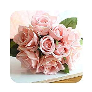 slogan not Fake Flower Wedding Bouquet Polyester Roses Holder Wedding Flowers Bridal Bouquets Artificial Bridesmaids Accessories Wedding Bouquet 104
