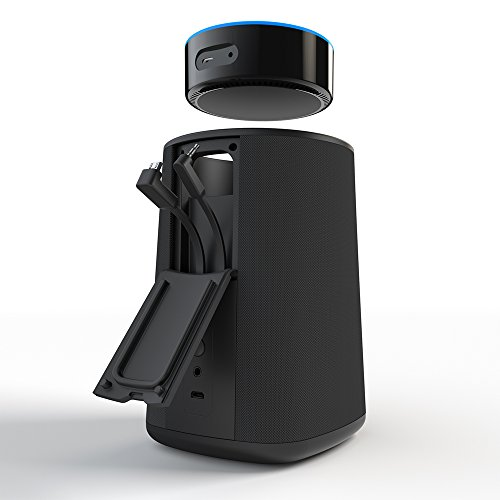 VAUX Cordless Home Speaker + Portable Battery for Amazon Echo Dot Gen 2 Black/Carbon