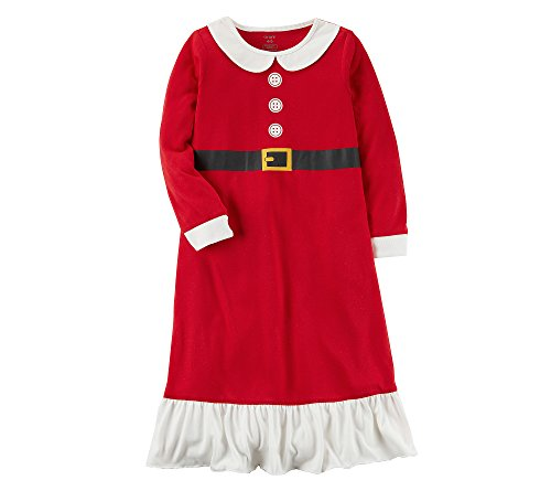 Carter's Girls' 4-14 Mrs. Claus Christmas Sleep Gown S (4/5) -
