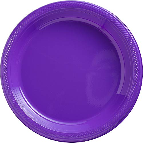 (New Purple Plastic Luncheon Plates Big Party Pack, 50 Ct.)