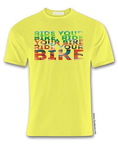 Amarillo 360 hombre manga Camiseta Ciclismo para corta de Yx0Zw1