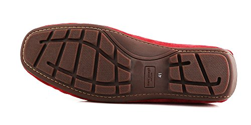 in Brazil Joseph Shoe Leather Genuine Men's New Driver Suede Venetian Red York Broadway Made Marc 10wqF8dq