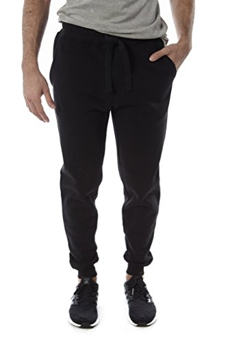 Vertical sport Men's fleece Jogger (Black, XX-Large) (Thrill Athletic Fit Pant)