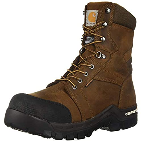 Carhartt Men's CSA 8-inch Rugged Flex Wtrprf Insulated Work Boot Comp Safety Toe Cmr8939 Industrial