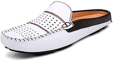 メンズ サンダル ビジネス オフィスサンダル 事務所 革靴 室内履き 社内履き ドライビングシューズ かかとなし スリッパ 本革スリッポン モカシン シューズ カジュアル レジャーシューズ 通気性 軽量 事務サンダル 仕事 通勤