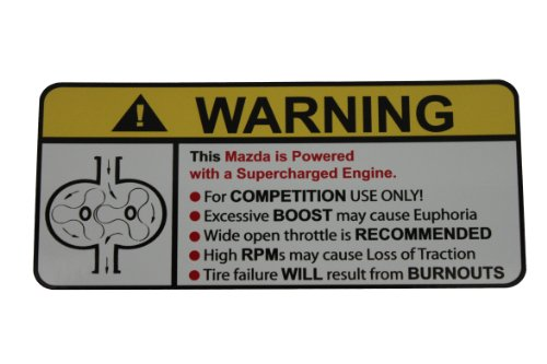 (Mazda Supercharger Type II Warning sticker decal)